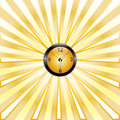 Free Clock Whit Rays Stock Photography - 25690922