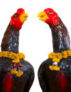 Free Isolates Of The Statue, A Black Chicken. Royalty Free Stock Images - 25691319