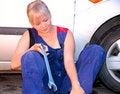 Free Beautiful  Woman Repairing The Car Stock Image - 25695011