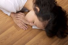 Free Sleeping On Floor Stock Photo - 25690010