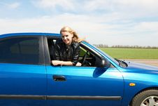 Free Girl In Car Royalty Free Stock Image - 25694776