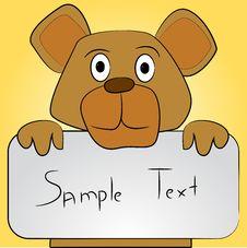 Free Animal With Text Box Stock Photos - 25696093