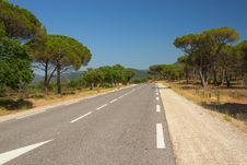 Free The Road Through The Mediterranean Landscape. Royalty Free Stock Photo - 25696435