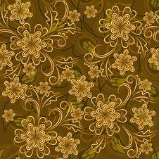 Free Vintage Seamless Floral Texture Stock Photos - 25698113