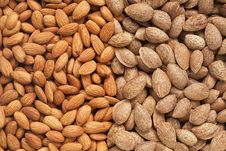 Free Healthy Food, Background. Almonds Stock Photos - 25698283