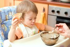 Free Feeding A Child Stock Images - 2570784