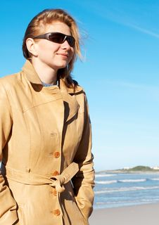 Blonde Woman In Sunglasses Royalty Free Stock Photos