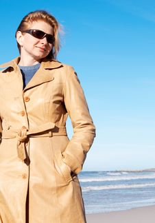 Blonde Woman In Sunglasses Royalty Free Stock Photography