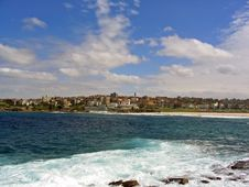 Bondi Beach City View Stock Photos