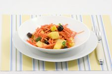 Free Pineapple Carrot Salad Stock Photography - 2572812