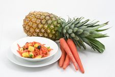 Free Carrot Salad With Pineapple Stock Image - 2572861