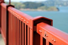 Free Red Bridge Rails Stock Photo - 2573440