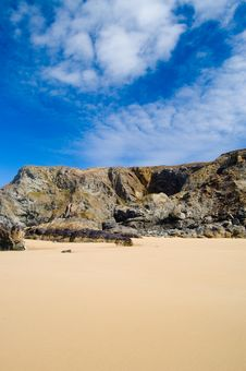 Sand,cliffs And Clouds Royalty Free Stock Photography