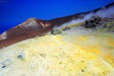 Sulphur On The Volcano Royalty Free Stock Photo