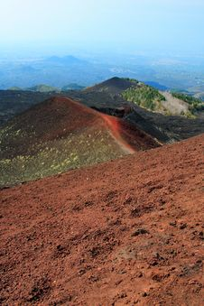 Red Volcano Stock Photo
