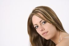 Free Young Brunette Head Shot Royalty Free Stock Photo - 2576625