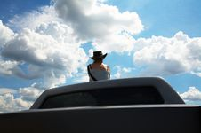 Free Girl In A Cowboy S Hat Stock Photos - 2576963