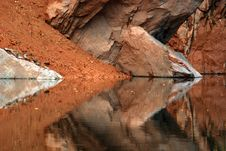Free Pond, Water And Rock Royalty Free Stock Photography - 2578477