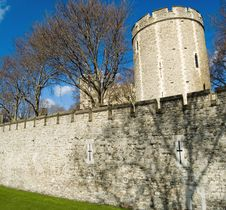 Tower Of London Walls - Salt T Stock Photo