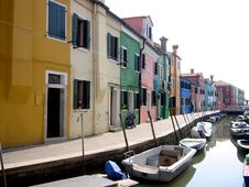 Free Venice Colourful Houses Burano Stock Images - 2578724