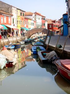 Free Colorful Houses Burano Venice Royalty Free Stock Photos - 2578728