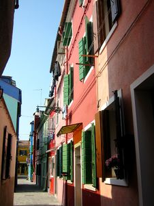 Free Colorful Houses Burano Venice Stock Photo - 2578730
