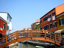 Free Colorful Houses Burano Venice Royalty Free Stock Photography - 2578777