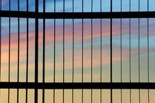 Free Gate And Sunset Royalty Free Stock Photos - 2578798