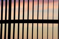 Free Gate And Sunset Royalty Free Stock Photos - 2578808