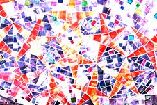 Stars - Mosaic Abstract Backgr Royalty Free Stock Photos