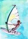 Free Windsurfer Royalty Free Stock Images - 25706049