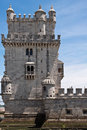 Free Belem Tower Over Blue Sky With Clouds Royalty Free Stock Images - 25707379