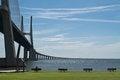 Free Vasco Da Gama Bridge In Lisbon, Postugal Royalty Free Stock Photo - 25707485