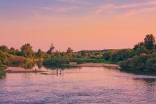 Free Beautiful Lake On Sunset Royalty Free Stock Photo - 25702785