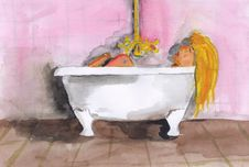 Free Bath Royalty Free Stock Image - 25705996