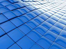 Blue Wavy Background Stock Images