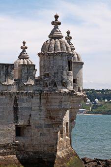 Fragment Of Belem Tower In Lisbon, Portugal Stock Image