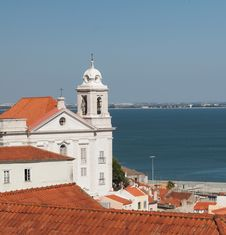 Free Church In Alfama District, Lisbon Stock Photos - 25707403