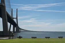 Free Vasco Da Gama Bridge In Lisbon, Postugal Royalty Free Stock Photo - 25707485