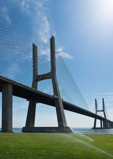 Free View Of Vasco Da Gama Bridge In Lisbon Royalty Free Stock Images - 25707499
