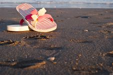 Free Flip-flops On The Beach Royalty Free Stock Photo - 25707635