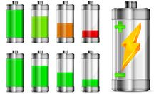 Free Battery With Level Indicator Royalty Free Stock Images - 25707939