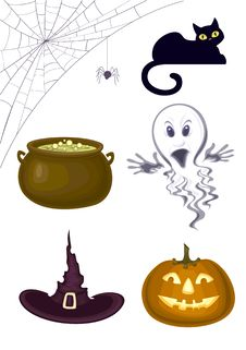 Free Halloween Icons Stock Photography - 25708552