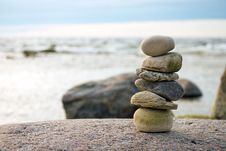 Free Stacked Stones Right Royalty Free Stock Photo - 25709545