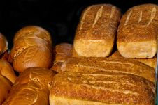 Free Several Loafs Of Fresh Baked Bread Stock Image - 25709721