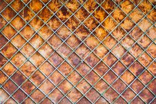 Old Rusty Fence Background Royalty Free Stock Photography