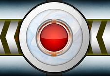 Free Red Button Metal Background Stock Image - 25711381