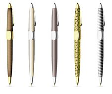 Free Pen Vector Royalty Free Stock Images - 25715839