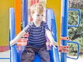 Free Small Boy On A Slide Royalty Free Stock Images - 25720149