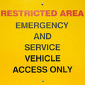 Free Restricted Area Sign Royalty Free Stock Photo - 25723175